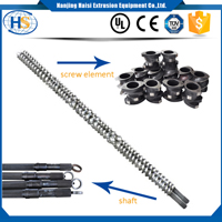 Package and Delivery of Parallel co-rotating twin screw extruder screw