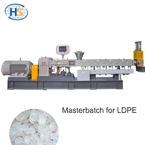 Twin Screw Extruder Masterbatch Machine for HDPE LLDPE LDPE Film